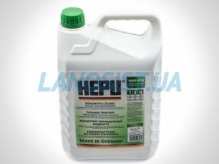 Антифриз HEPU G11 зеленый концентрат 5л P999005