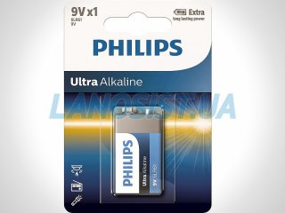 Батарейка 6LR61 Ultra щелочная 9V (Крона) Philips 6LR61E1B/10