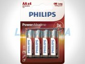Батарейки AA LR6 1.5V Power щелочные Philips LR6P4B/10