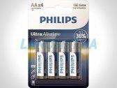 Батарейки AA LR6 1.5V Ultra щелочные Philips LR6E4B/10