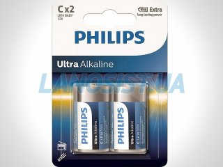 Батарейки C LR14 1.5V щелочные Philips LR14E2B/10