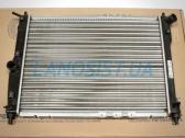Радиатор охлаждения двигателя Дэу Ланос, Нубира (без кондиционера).