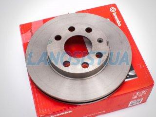 Тормозной диск Ланос 1.5 Сенс Brembo 09309014